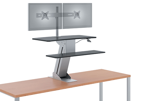 Desk mounted Height Adjustable